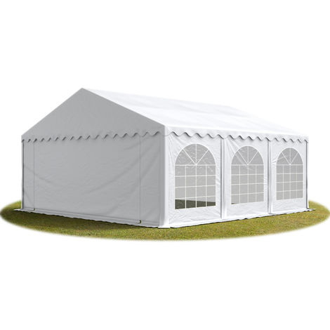 TOOLPORT Marquee 5x6 m Heavy Duty PVC with GROUNDBAR Party Wedding Tent Garden PREMIUM in white