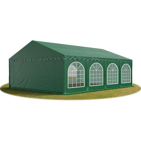 TOOLPORT Marquee 5x8 m Heavy Duty PVC with GROUNDBAR Party Wedding Tent Garden PREMIUM in darkgreen