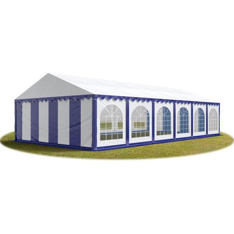 TOOLPORT Marquee 6x12 m Heavy Duty PVC with GROUNDBAR Party Wedding Tent Garden PREMIUM in blue-white