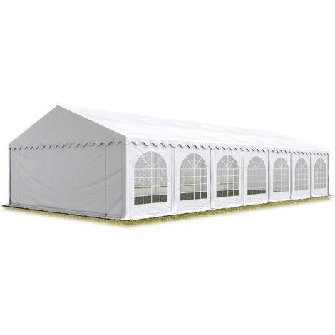TOOLPORT Marquee 6x14 m Heavy Duty PVC with GROUNDBAR Party Wedding Tent Garden PREMIUM in white