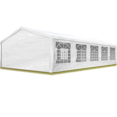 """main image of """"TOOLPORT Partyzelt Pavillon 5x10 m in weiß 180 g/m² PE Plane Wasserdicht UV Schutz Festzelt Gartenzelt"""""""