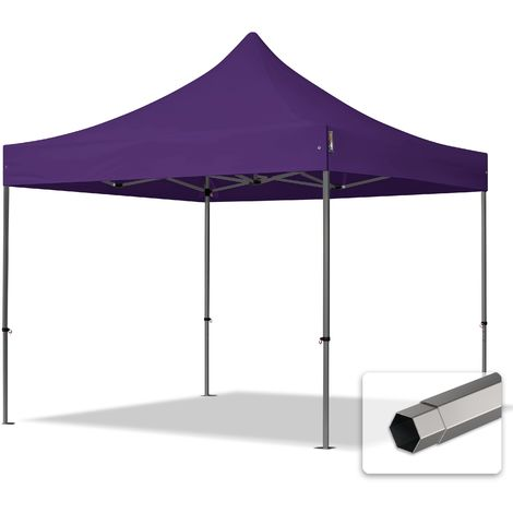 TOOLPORT PopUp Gazebo Party Tent 3x3m - without side panels PROFESSIONAL 100% waterproof roof marquee purple