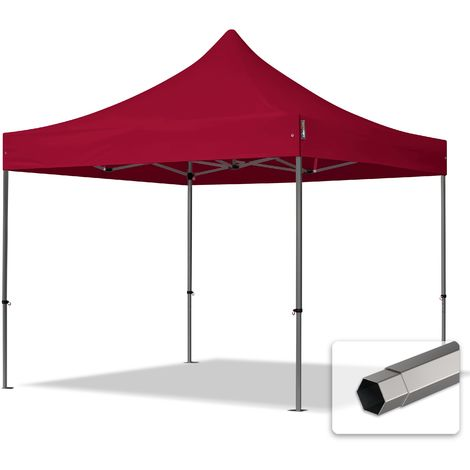 TOOLPORT PopUp Gazebo Party Tent 3x3m - without side panels PROFESSIONAL 100% waterproof roof marquee red