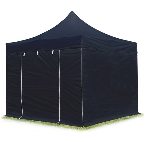 TOOLPORT PopUp Gazebo Party Tent 3x3m - without windows PROFESSIONAL 100% waterproof roof marquee black