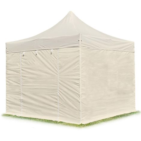 TOOLPORT PopUp Gazebo Party Tent 3x3m - without windows PROFESSIONAL 100% waterproof roof marquee cream