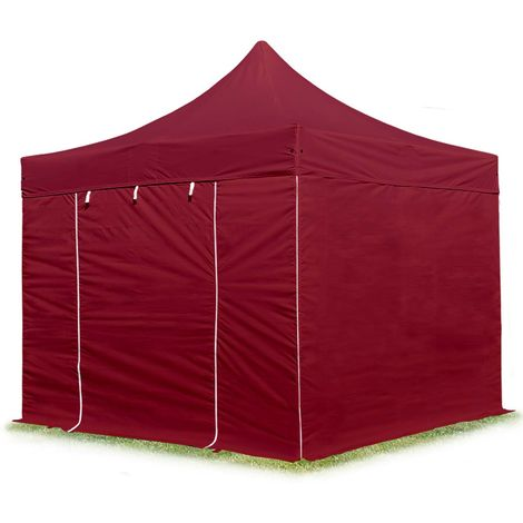 TOOLPORT PopUp Gazebo Party Tent 3x3m - without windows PROFESSIONAL 100% waterproof roof marquee red