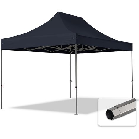 TOOLPORT PopUp Gazebo Party Tent 3x4,5m - without side panels PROFESSIONAL 100% waterproof roof marquee black
