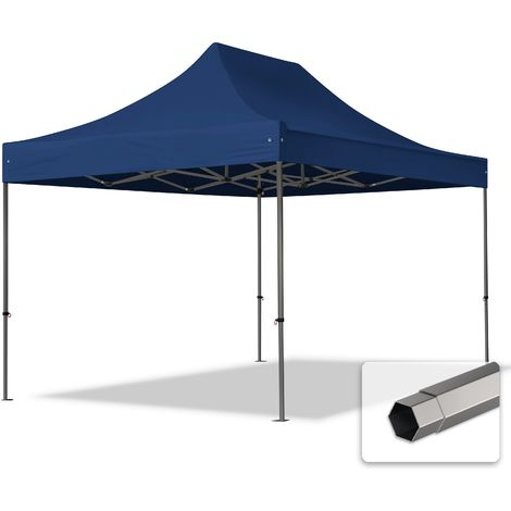 TOOLPORT PopUp Gazebo Party Tent 3x4,5m - without side panels PROFESSIONAL 100% waterproof roof marquee blue