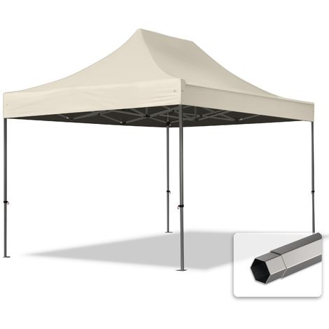 TOOLPORT PopUp Gazebo Party Tent 3x4,5m - without side panels PROFESSIONAL 100% waterproof roof marquee cream