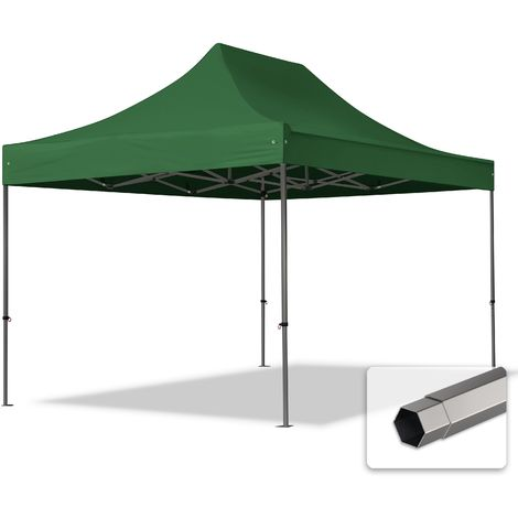 TOOLPORT PopUp Gazebo Party Tent 3x4,5m - without side panels PROFESSIONAL 100% waterproof roof marquee dark green