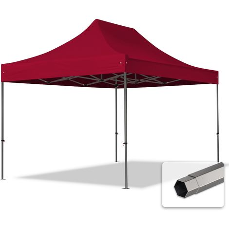 TOOLPORT PopUp Gazebo Party Tent 3x4,5m - without side panels PROFESSIONAL 100% waterproof roof marquee red
