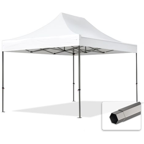 TOOLPORT PopUp Gazebo Party Tent 3x4,5m - without side panels PROFESSIONAL 100% waterproof roof marquee white