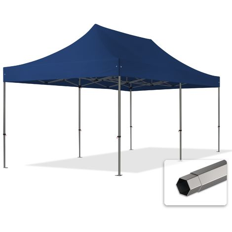 TOOLPORT PopUp Gazebo Party Tent 3x6m - without side panels PROFESSIONAL 100% waterproof roof marquee blue