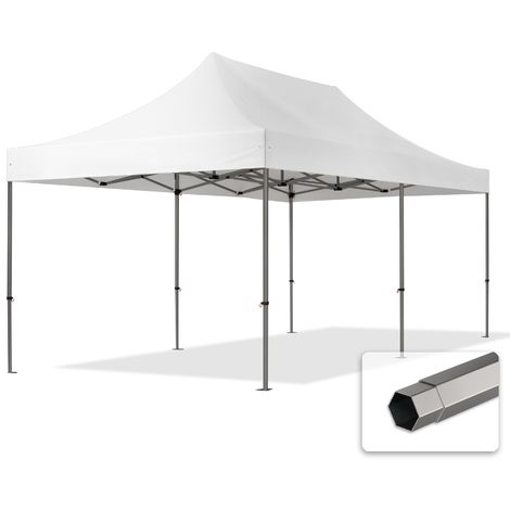 TOOLPORT PopUp Gazebo Party Tent 3x6m - without side panels PROFESSIONAL 100% waterproof roof marquee white
