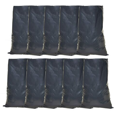 Tools House Heavy Duty Black Rubble Sacks - Refuse Bag - 50 x 76cm / 20x 30 inch, Ideal for Building Sites, Decorating, House clearances, Soil, Renovation Sites & Gardening, Builder Sacks (10)