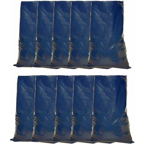 Tools House Heavy Duty Blue Rubble Sacks - Refuse Bag - 50 x 76cm / 20x 30 inch, Ideal for Building Sites, Decorating, House clearances, Soil, Renovation Sites & Gardening, Builder Sacks (10)