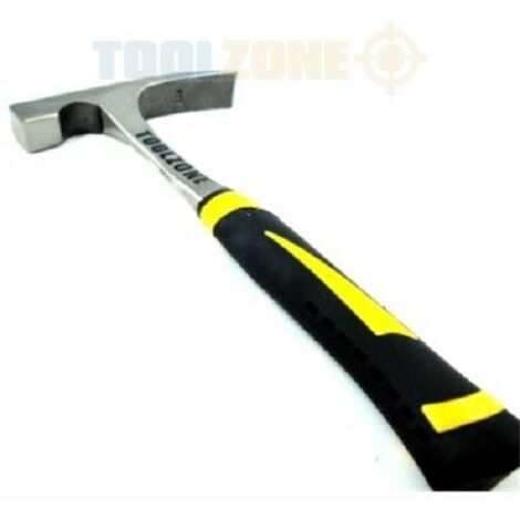 Toolzone 600G Solid Drop Forged Brick Hammer Nylon Grip (Hand tool)
