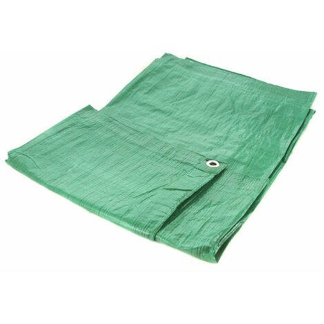Toolzone Waterproof Green Tarpaulin Ground Sheet Cover 23ft (7M) X 30ft (9M)