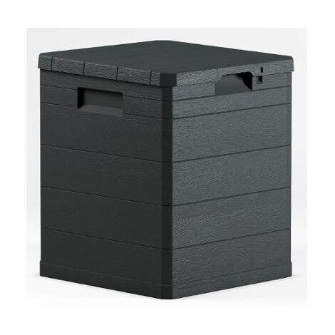 Toomax coffre de rangement Woody s résine L117 x P45 x H56 cm contenance 280 l