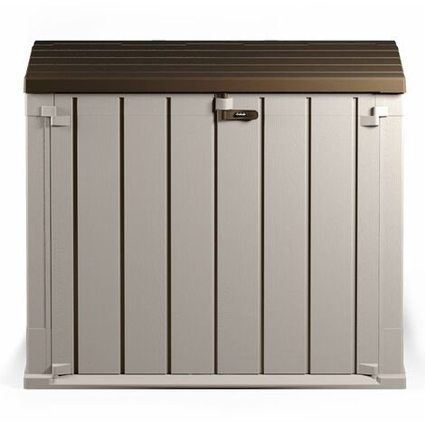 Toomax Extra Large 842L Plastic Outdoor Waterproof Shed- Wheelie Bin Garden Storage