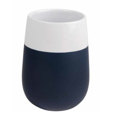 Toothbrush tumbler Malta dark blue/white WENKO