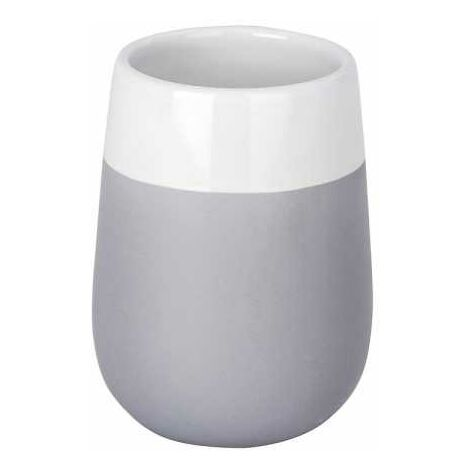 Toothbrush tumbler Malta Grey/White WENKO