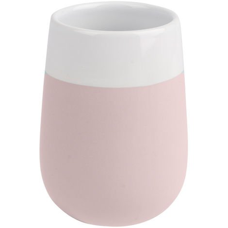 Toothbrush tumbler Malta rose/white WENKO