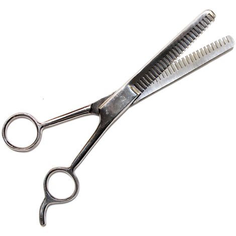 Toothed toothed scissors all stainless steel mane