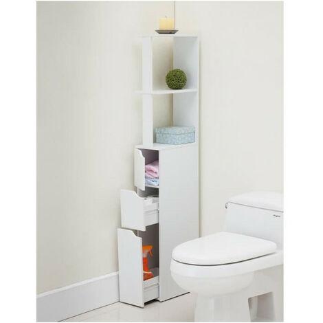 TOP Colonne de toilette L 15 cm - Blanc mat