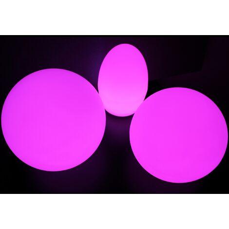 TOP MULTI Gartenlampe LED mit Farbwechsel und Fernbedienung mit Akku aufladbar
