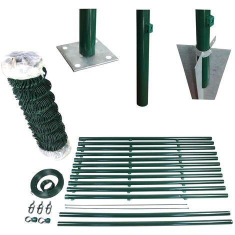 Stacheldraht verzinkt als Drahtzaun Wildzaun 100 m L/änge Drahtverhau Gr/ün 2,1 mm Drahtst/ärke f/ür Tierabwehr /& Objektschutz Weidezaun