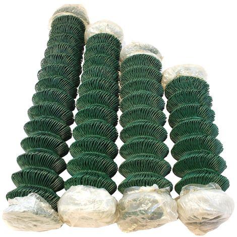 Spanndraht Maschendraht Zaun Spanndrahthalter Pfosten Geflecht Zubehör 50x grün
