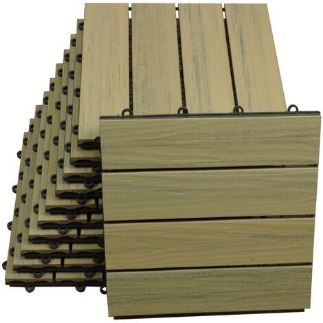 TOP MULTI WPC Bodenfliesen 30 x 30cm in zwei verschiedenen Ausführungen und drei Farben