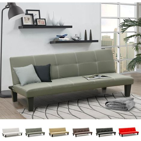 TOPAZIO 3-Seat Convertible Sofa Bed Made Of Eco Leather