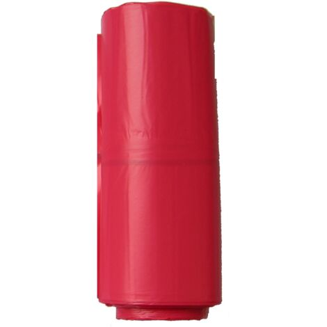 TOPCAR - Carton de de 200 sacs poubelles rouges 110 litres - 5937