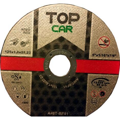 """main image of """"TOPCAR - Disque à tronçonner l'acier ou l'inox 125x1.6 mm - DISQUE125X1.6"""""""