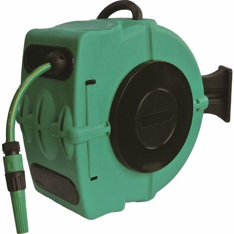 TOPCAR - Enrouleur automatique orientable de tuyau d'eau 20 mètres - 18441