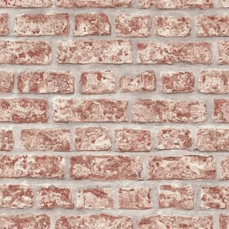 Topchic Wallpaper Bricks Red and Grey - Red