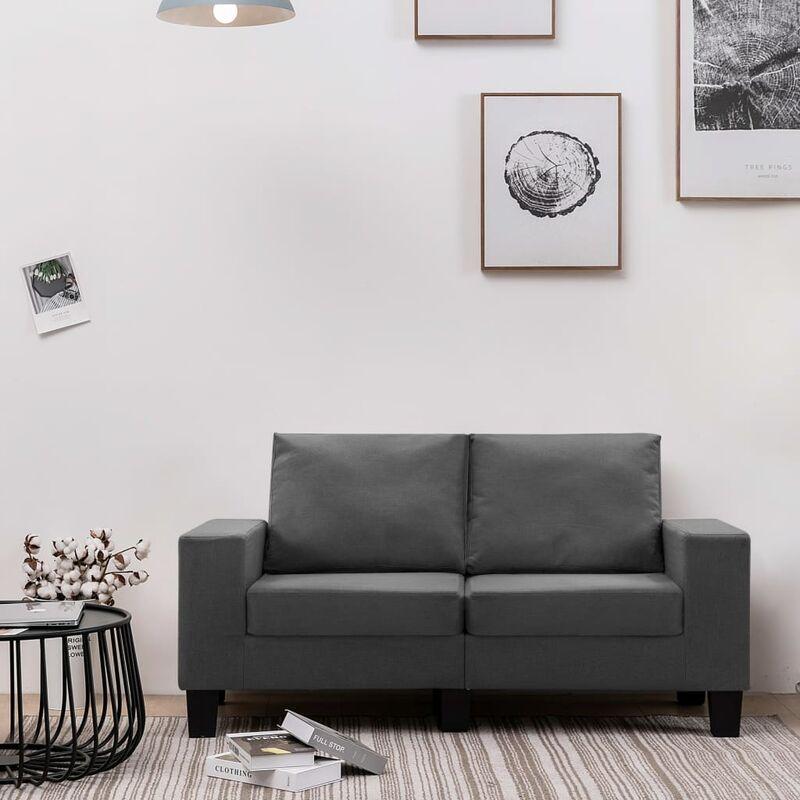 2-Sitzer-Sofa Dunkelgrau Stoff 37160 - Topdeal