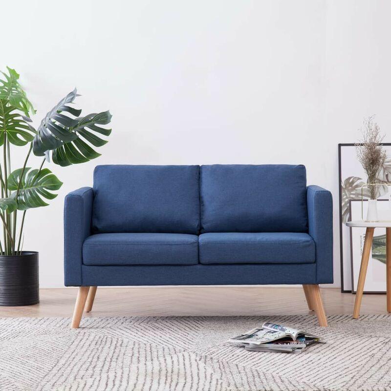 2-Sitzer-Sofa Stoff Blau 22954 - Topdeal