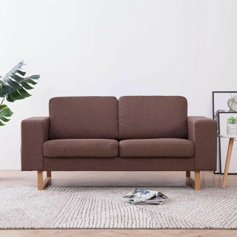 2-Sitzer-Sofa Stoff Braun 22982 - Topdeal