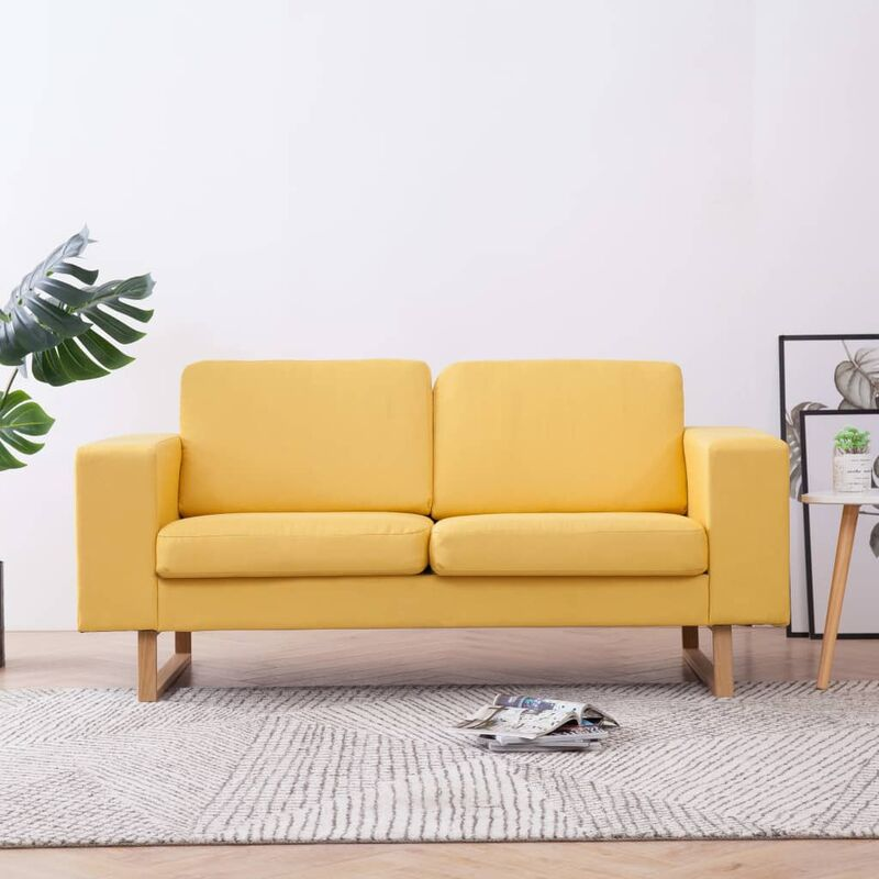2-Sitzer-Sofa Stoff Gelb 22990 - Topdeal
