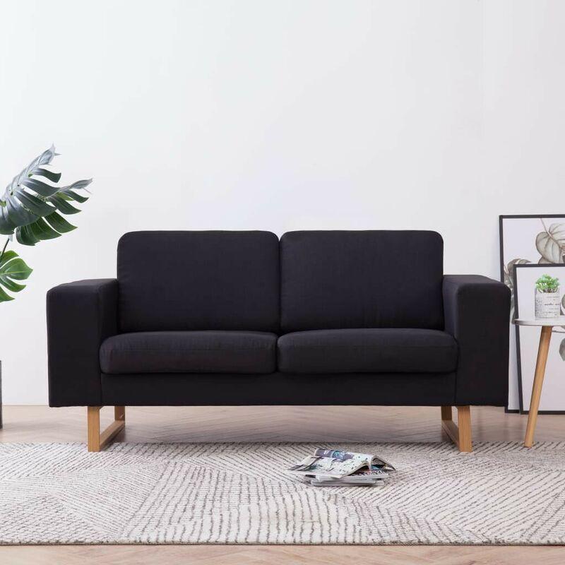 2-Sitzer-Sofa Stoff Schwarz 22988 - Topdeal