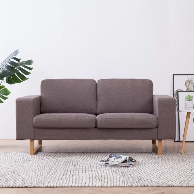 2-Sitzer-Sofa Stoff Taupe 22994 - Topdeal
