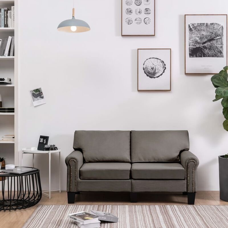 2-Sitzer-Sofa Taupe Stoff 37208 - Topdeal