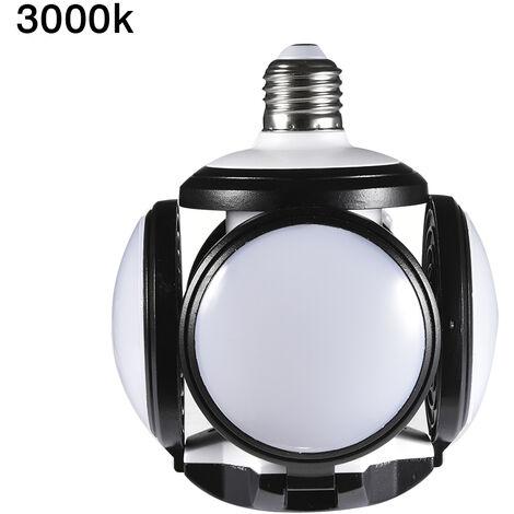 Topdeal 3 Piece LED Garage Lighting Soccer Shape Energy Saving Workshop Lighting 4800LM 60W Deformable Garage Light LEDZQ0000102X3