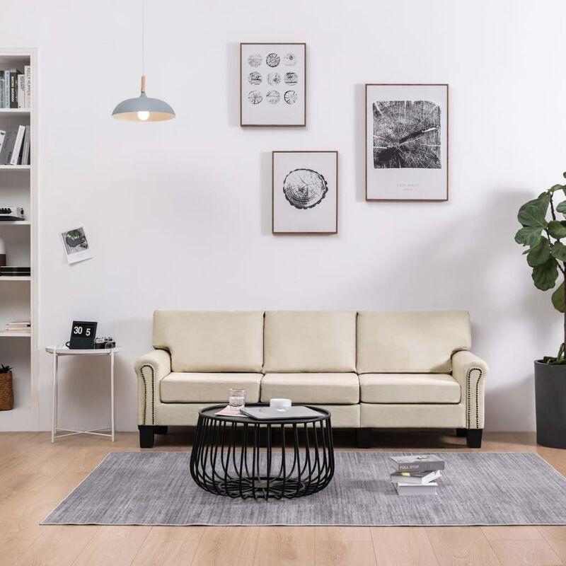3-Sitzer-Sofa Creme Stoff 37211 - Topdeal