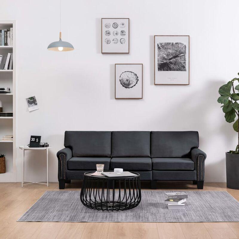3-Sitzer-Sofa Dunkelgrau Stoff 37210 - Topdeal