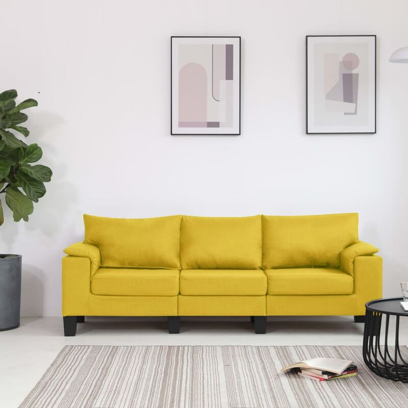 3-Sitzer-Sofa Gelb Stoff 37136 - Topdeal