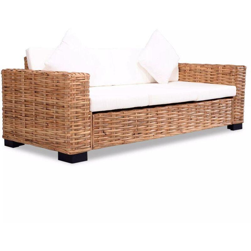 3-Sitzer-Sofa Natürliches Rattan 10526 - Topdeal